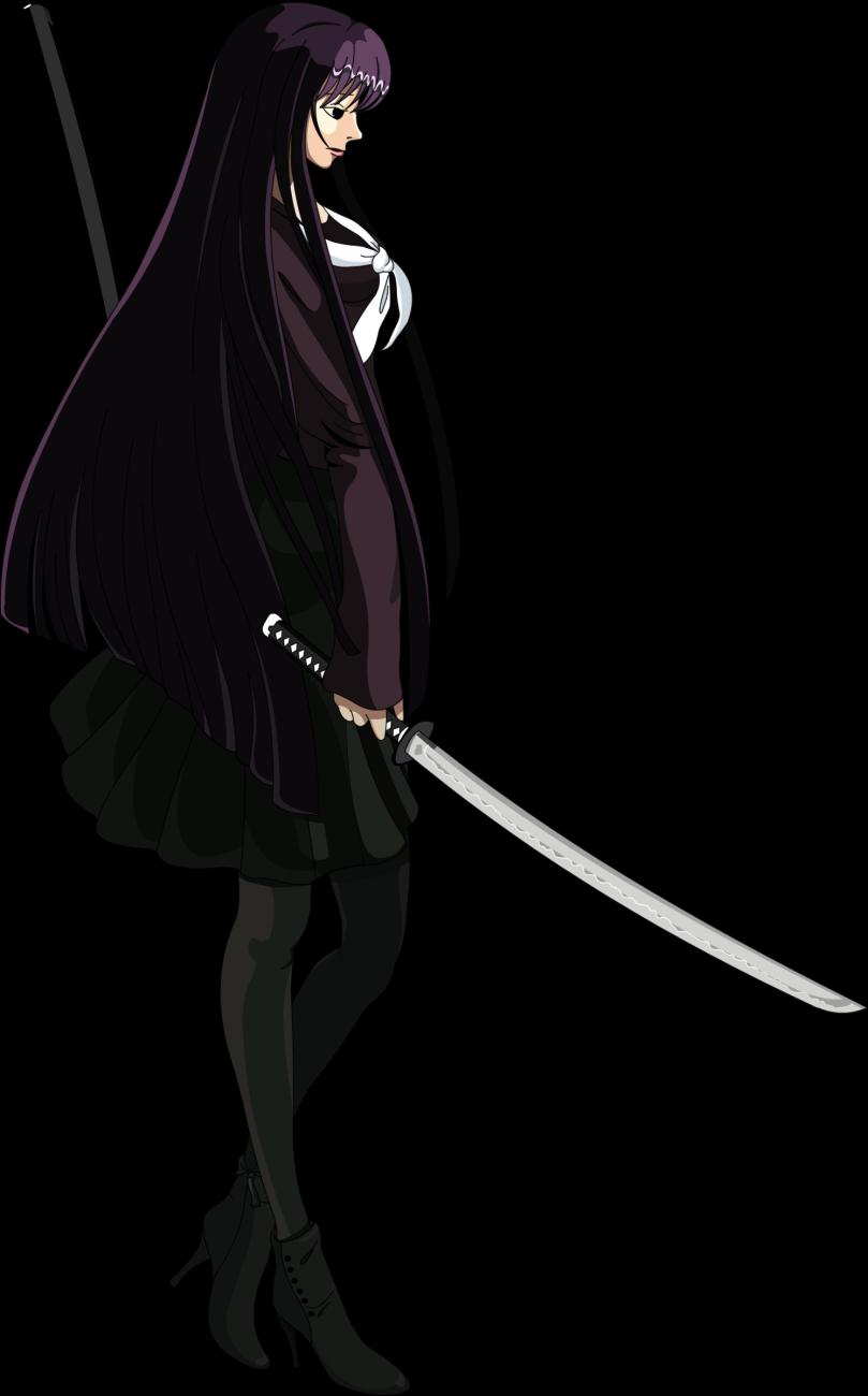 Anime Characters Vector : Anime ninja schoolgirl vector nebula game studios